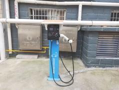 菏泽文景文苑小区电动汽车7kw220v汽车充电桩安装案例