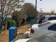 36台昌原电动汽车充电桩安装现场案例