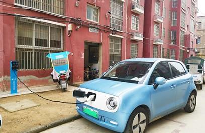 郑州昌原7kw汽车交流充电桩使用案例现场