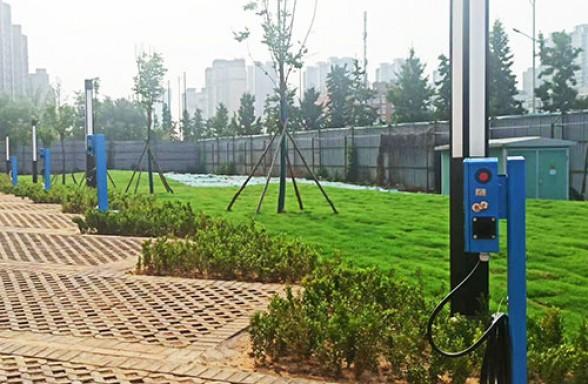 昌原7kw新能源汽车交流充电桩安装现场