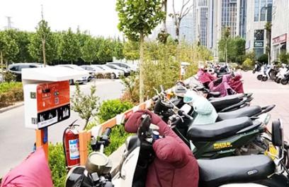 郑州昌原小区电瓶车10路充电站安装案例
