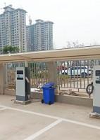 郑州昌原14kw新能源汽车交流充电桩安装现场