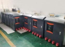 客户定制4路大功率380v充电设备安排发货现场
