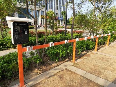 小区内投放电动车充电站图
