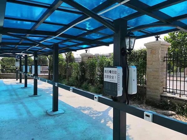 恒大绿洲小区便民充电站安装案例图2